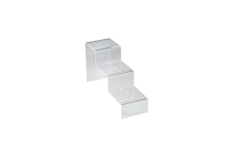 Escalier plexiglas 3 marches présentoir