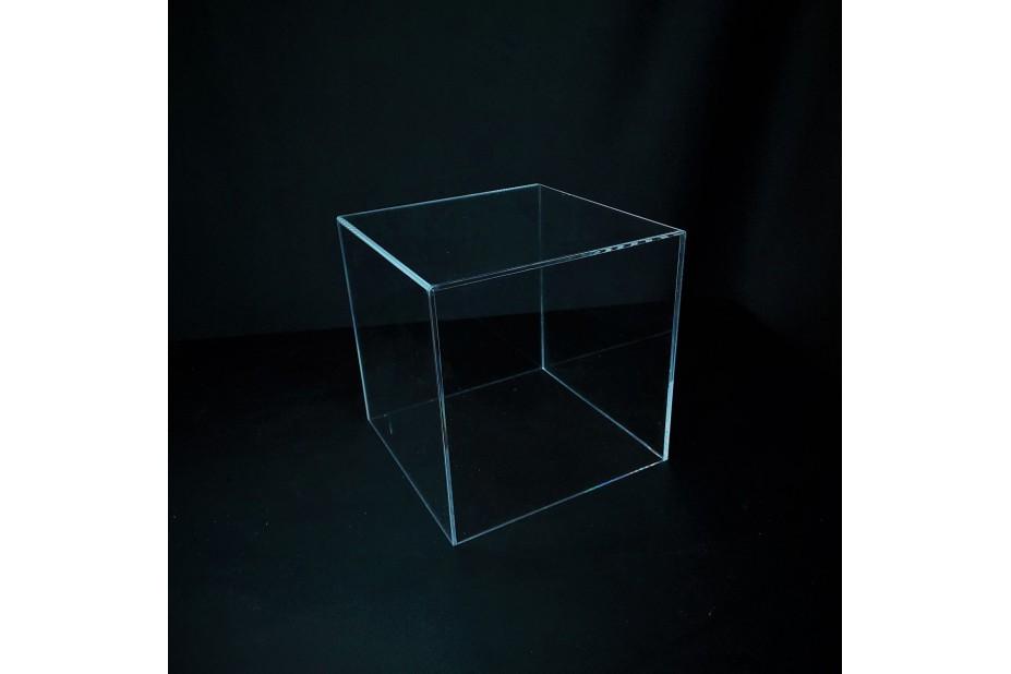 Présentoir cube plexiglas présentoir